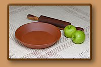 Red Clay Pie Plate