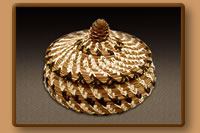 Basket with Pine Cone Lid